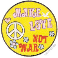 Make Love Not War Fancy Patch on Sale for $3.99 at HippieShop.com