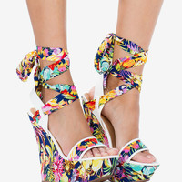 Playful Bold Blooming Wedge