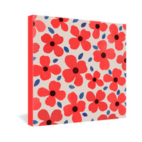 Garima Dhawan Dogwood Red Gallery Wrapped Canvas