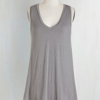 Minimal Mid-length Sleeveless Endless Possibilities Top in Grey