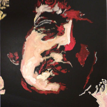 Comic Book Style Pop Art - Bob Dylan - Original Acrylic Painting - Urban Decor - Modern Decor - Expressionist Art  - Wall Art - Home Décor