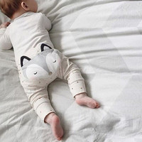New 2016 Cute Baby Boys Girl Cotton Harem Pants Children Kids Fashion fox printed Long Trousers Casual Loose Outfits Clothing Z5