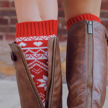 Catching Snowflakes Leg Warmers