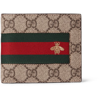 Gucci - Stripe-Trimmed Monogrammed Coated Canvas Billfold Wallet