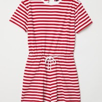 Striped Jumpsuit - Red/white striped - Ladies   H&M US