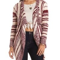 Striped Cascade Cardigan Sweater by Charlotte Russe