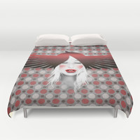 MonGhostX - Close, Fly, dreams... of a free world ! Peace. Duvet Cover by LilaVert