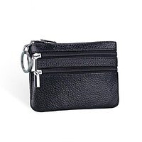 Genuine Leather Coin Purse Women Small Wallet Change Purses Money Bags Children's Pocket Wallets Key Holder Mini Zipper Pouch