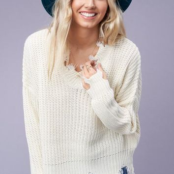 Give Me Love Sweater in Ivory