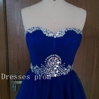 2015 short bridesmaid dresses tulle dresses royal blue prom dresses Handmade cocktail dresses Plus size tulle dresses Ruffles Dresses
