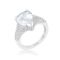 Lovina Pear Cut Vintage Inspired Solitaire Engagement Ring   6ct  Cubic Zirconia