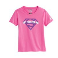 Under Armour Girls' Under Armour® Alter Ego Supergirl Glow T-Shirt