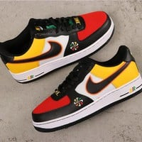 Nike Air Force 1 Low AF1 Black/Red/Yellow/White Shoes - Best Online Sale