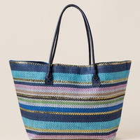 Katy Striped Beach Tote