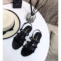 YSL Saint Laurent Women's Leather Sandals