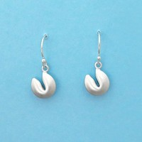 Fortune, Cookie, Gold filled, Sterling silver, Hooks, Earrings