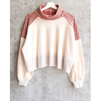 Free People - At The Lodge Turtleneck Top - Light Combo