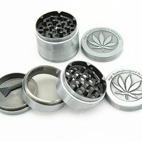 Hot New 50mm 4 layers Metal Zinc Alloy Chinese Herb Grinder Spice Herbal Smoking