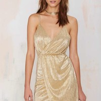 Nasty Gal Luxe Be a Lady Lamé Dress