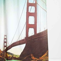 Shannon Clark For DENY Golden Gate Shower Curtain- Red One