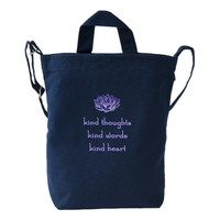 Kind Thoughts Lotus Canvas Bag