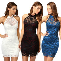Women Sexy Lace Stretch Clubwear Evening Party Bodycon Pencil Dress Cocktail New A_L = 1655756996