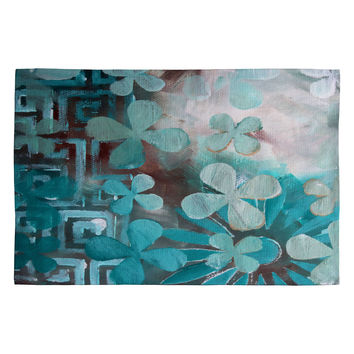 Madart Inc. Dream Land Aqua Pattern Woven Rug