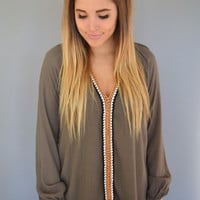 Forest Trail Crochet Front Tunic