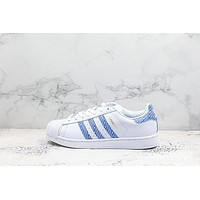 Adidas Superstar White Royal Blue Sneakers