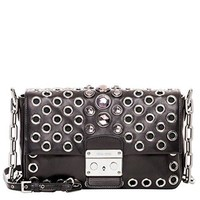 Miu Miu Women's Nappa Embellished Bag Black