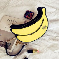 Banana Shape Cartoon Lovely Creative Shoulder Bag Crossbody Bags