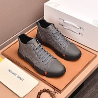 lv louis vuitton men fashion boots fashionable casual leather breathable sneakers running shoes 612