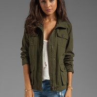 Jack by BB Dakota Leslie Cotton Twill Army Jacket in Army Green from REVOLVEclothing.com