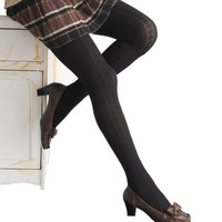 Angelina Opaque, Cable Knit Patterned Tights, #8902CABLE