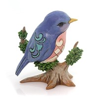 Jim Shore BIRD ON BRANCH MINI Polyresin Heartwood Creek 4055061