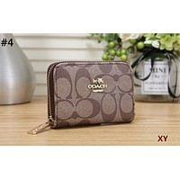 COACH Tide brand female multi-function zipper wallet card package #4