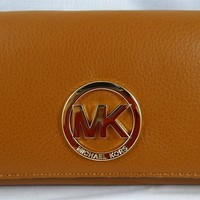MICHAEL Michael Kors Fulton Carryall Luggage Pebbled Leather Wallet