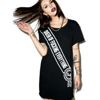 QUEEN OF IT ALL T-SHIRT DRESS