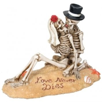 Beach Lovers Skeleton Wedding Cake Topper - Wedding Collectibles