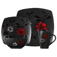 Gibson 16 pc. Evening Blossom Dinnerware Set
