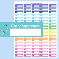 Doctor Appointment Stickers, Printable Doctor Stickers, Printable Erin Condren Planner Stickers