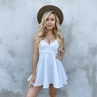 Expect The Best Skater Dress in White