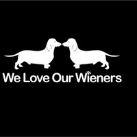 We Love Our Wieners Dachshund decal Dog decal Funny Wiener Decal Car Vinyl Decal Sticker Custom Car Vehicle Auto Decal