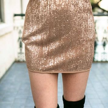 Twinkling Touch Sequin Mini Skirt