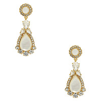 Kate Spade Butter Up Statement Earrings Cream Multi ONE