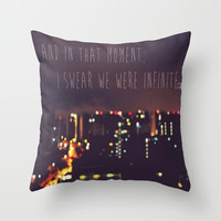 PERKS OF BEING A WALLFLOWER  Throw Pillow by Sjaefashion