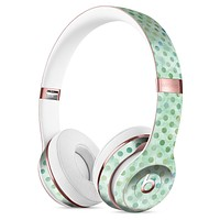 Shabby Chic Green Watercolor Polka Dots Full-Body Skin Kit for the Beats by Dre Solo 3 Wireless Headphones