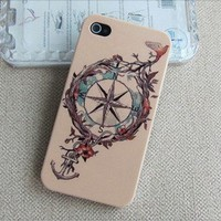 Tribal Hybrid Hard  anchor Impact Case for iphone 4/4s