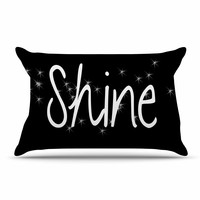 "Suzanne Carter ""Shine"" Black White Pillow Case"