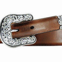 Ariat Women's Western Cheyenne Leather Belt-Russet Rebel